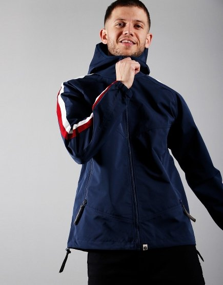 Pretty Green Tilby Hooded Jacket Navy