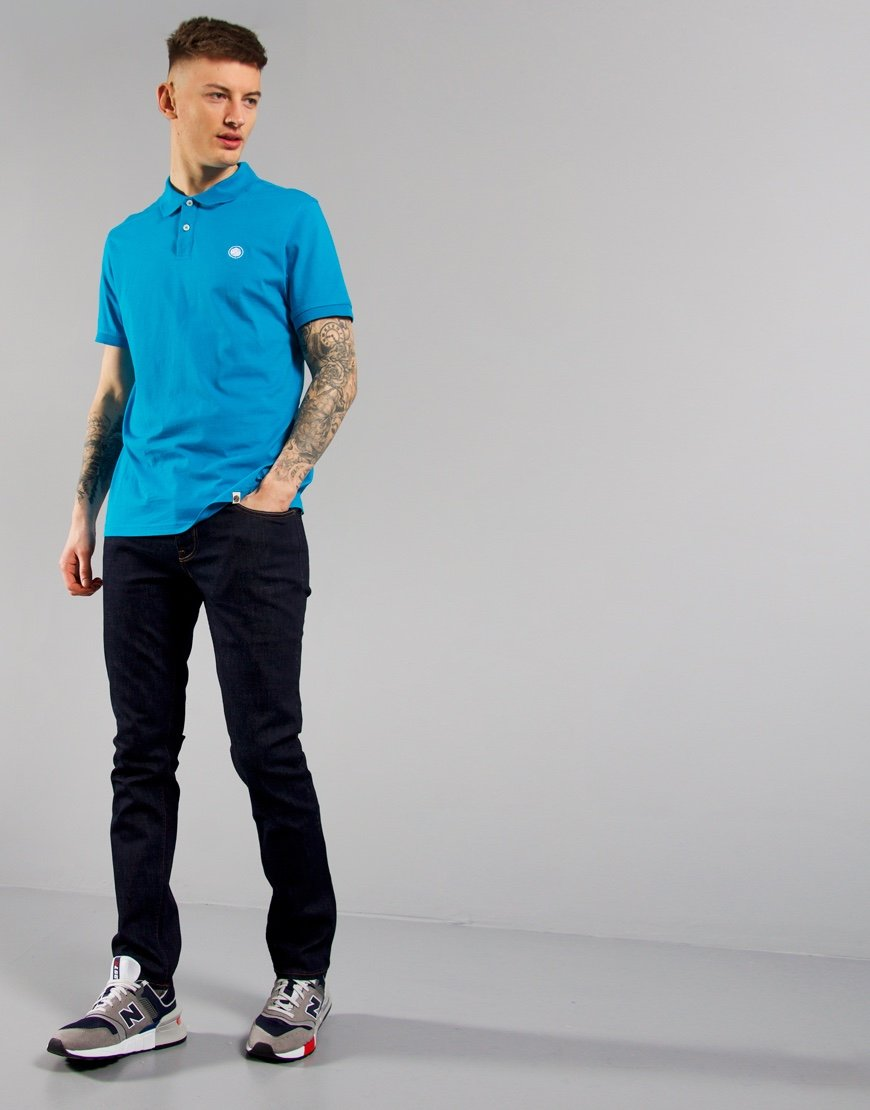 Pretty Green Jersey Polo Shirt Blue