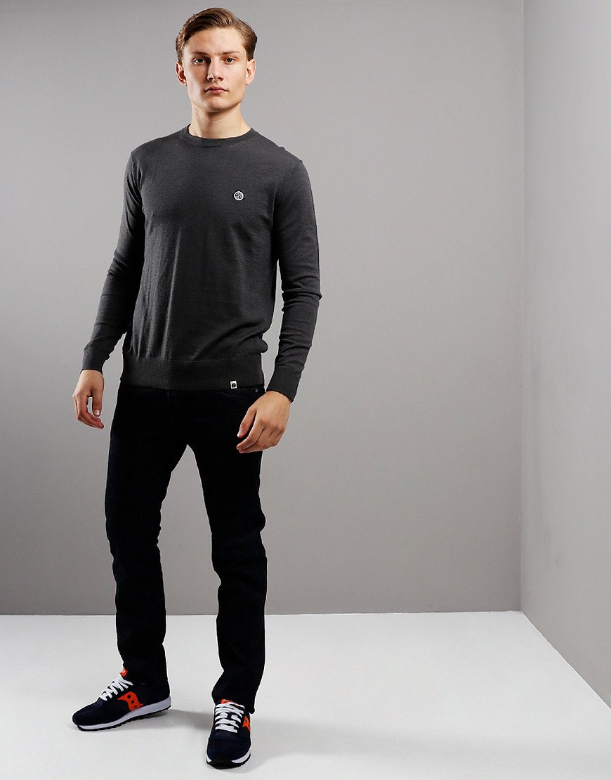 Pretty Green Knitted Crew Knit Grey