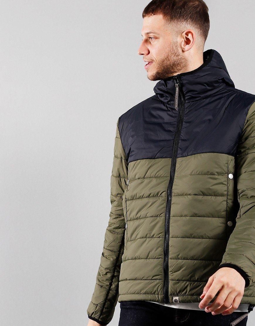 Pretty Green Landon Quilt Jacket Khaki