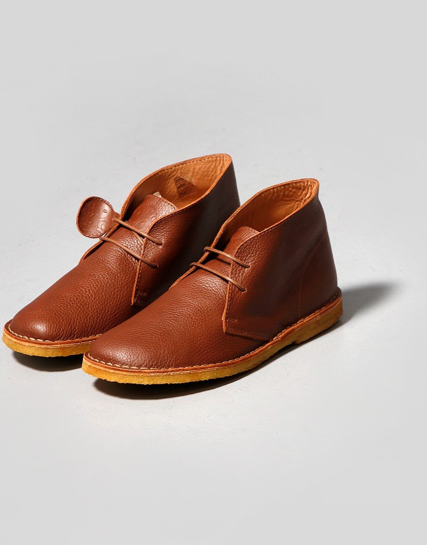Pretty Green Leather Desert Boot Tan