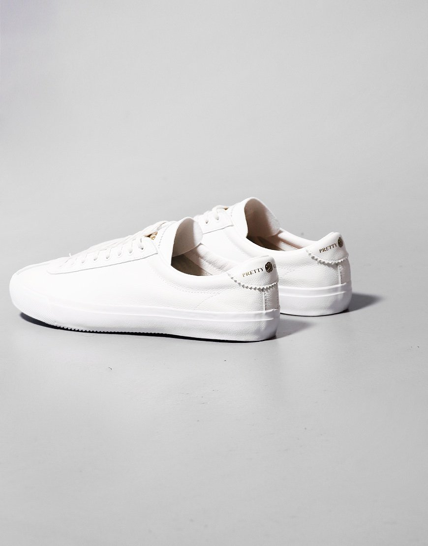 Pretty Green Leather Trainers White