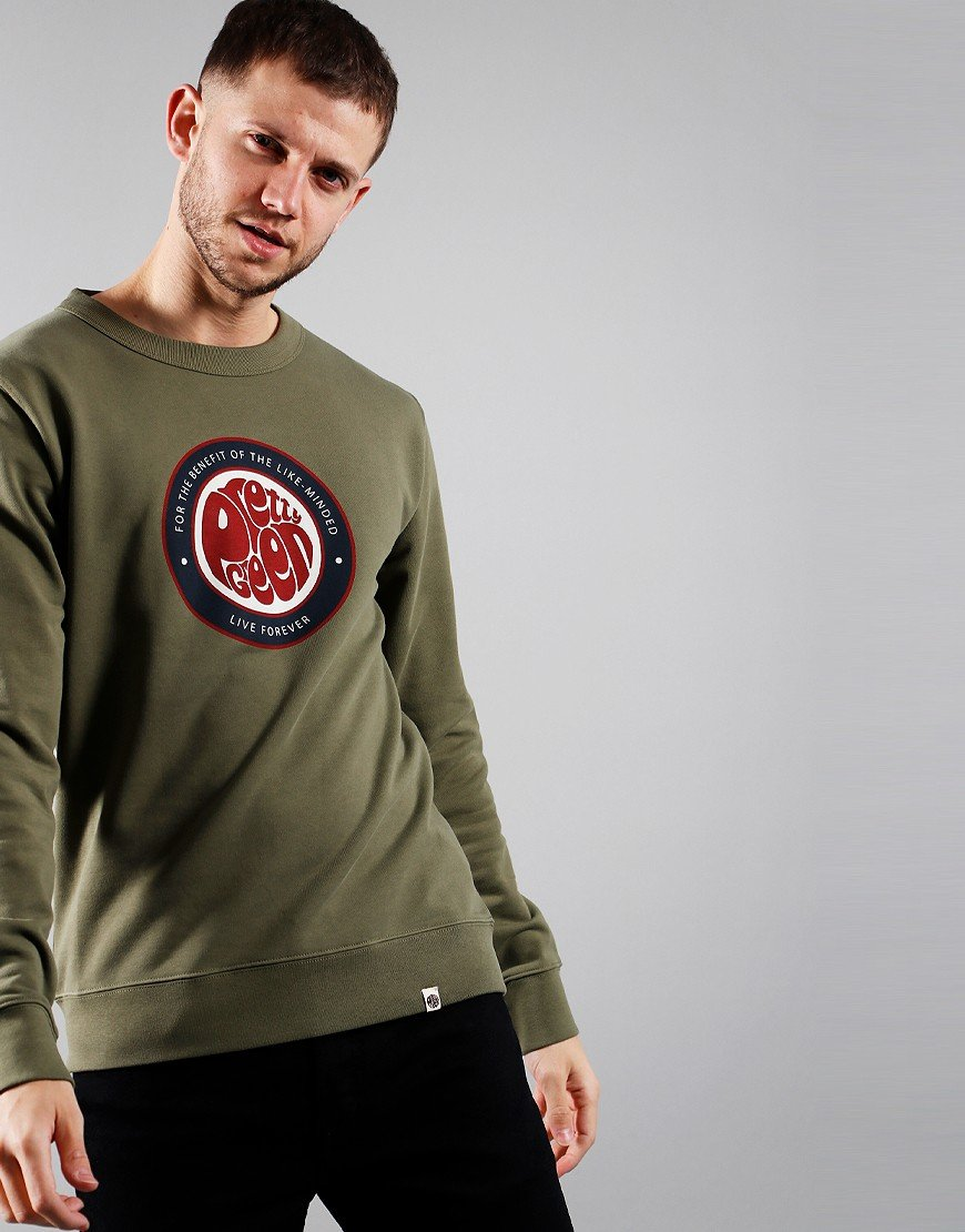 Pretty Green Likeminded Crew Sweat Khaki