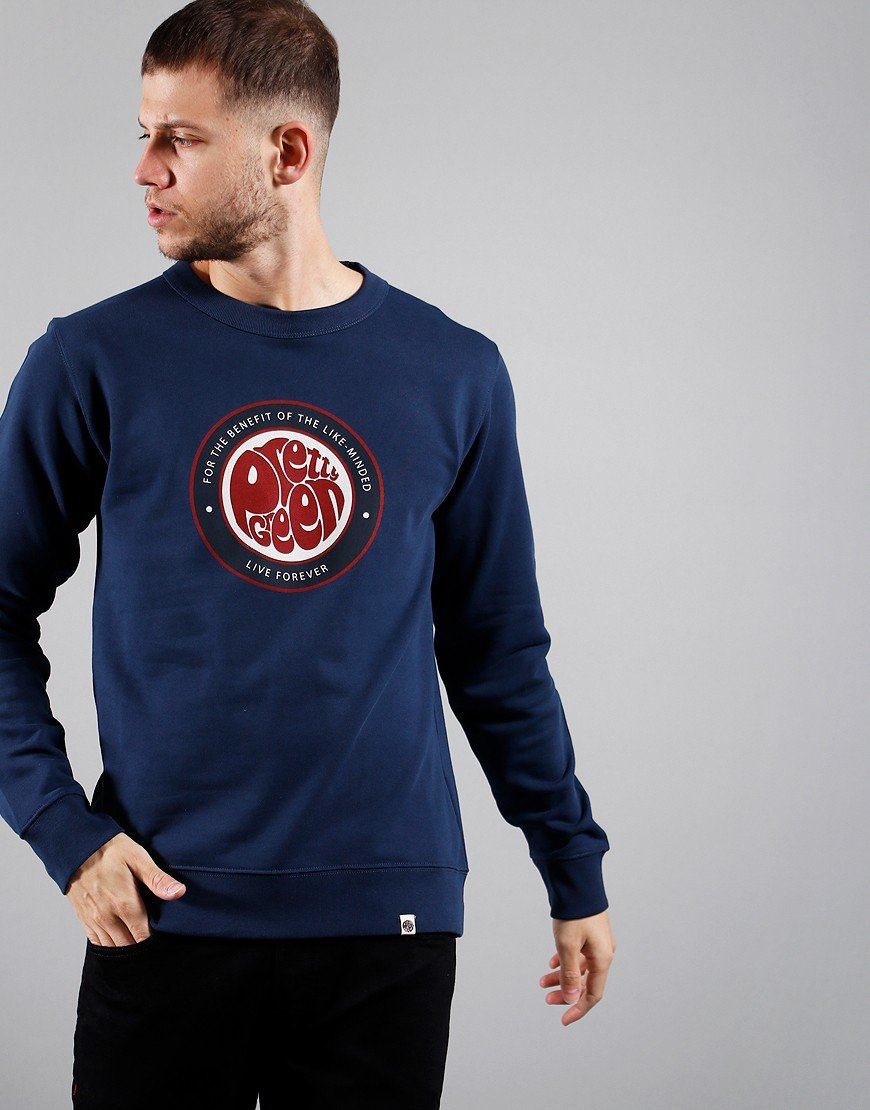 Pretty Green Likeminded Crew Sweat Navy