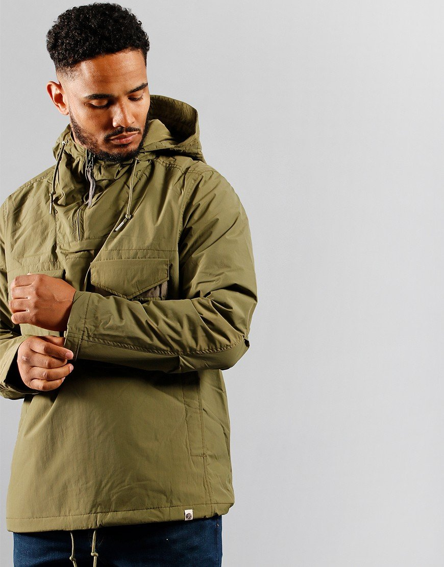 Pretty Green Likeminded Quilted Smock Khaki