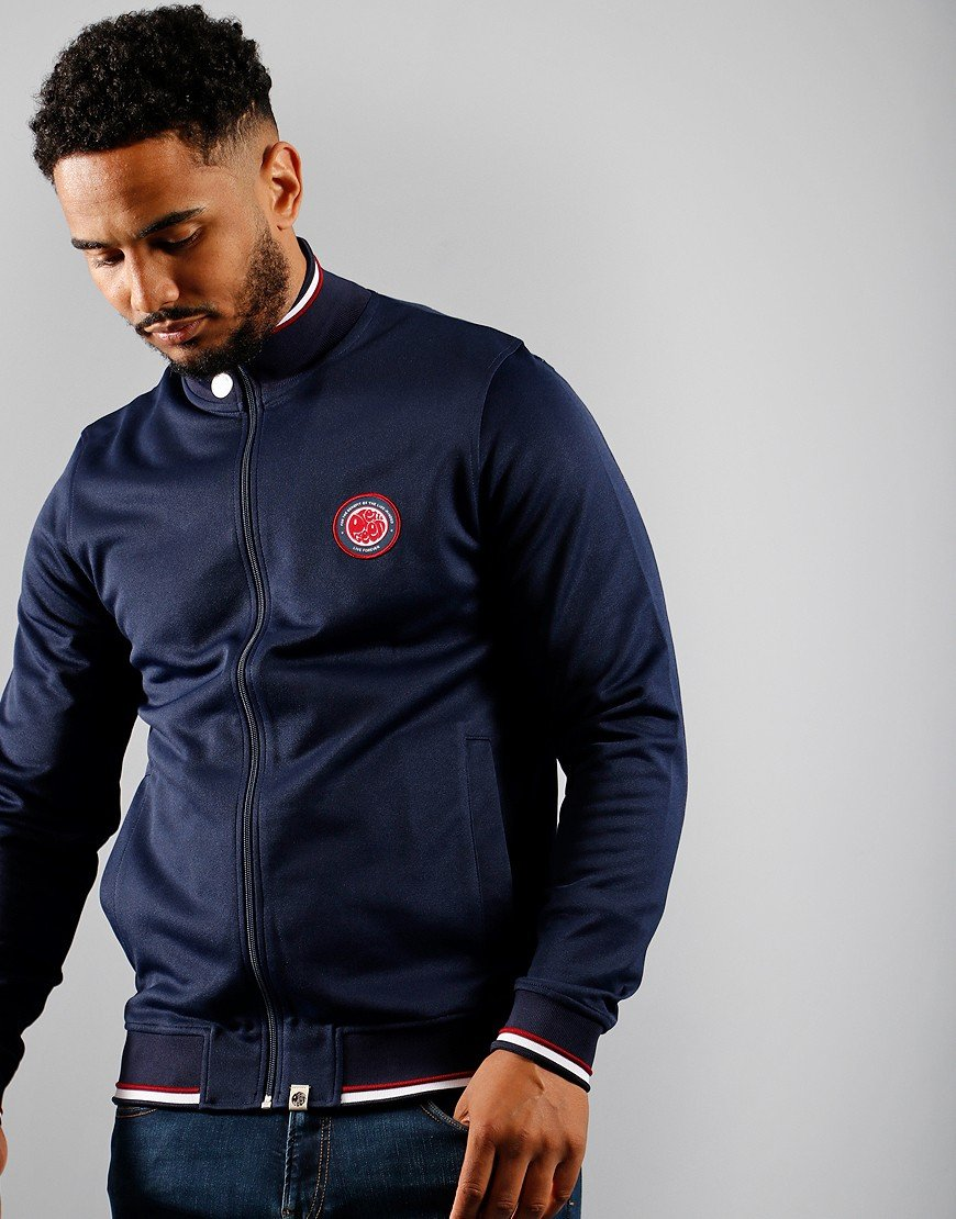 Pretty Green Likeminded Track Top Navy