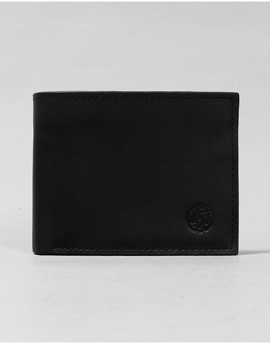 Pretty Green Logo Bifold Leather Wallet Black