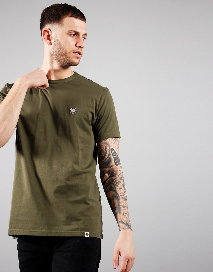 Pretty Green Mitchell T-Shirt Khaki