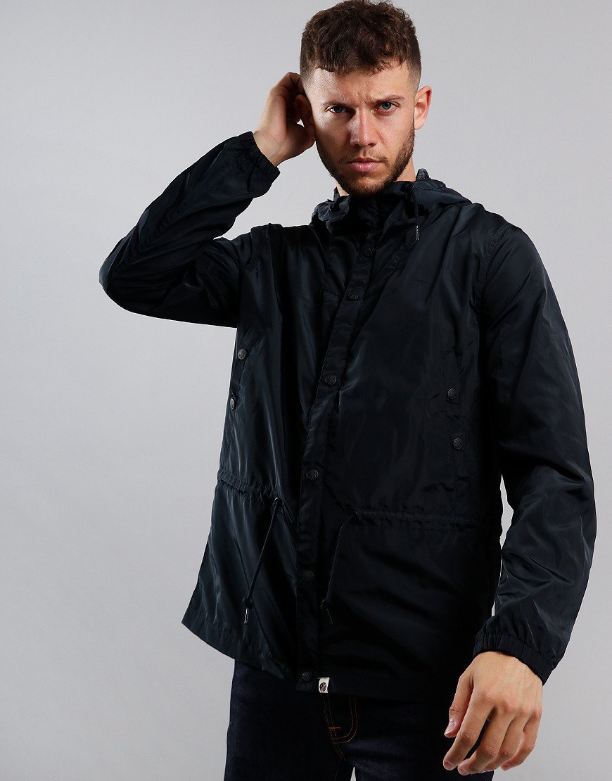 Pretty Green Nylon Hooded Jacket Black