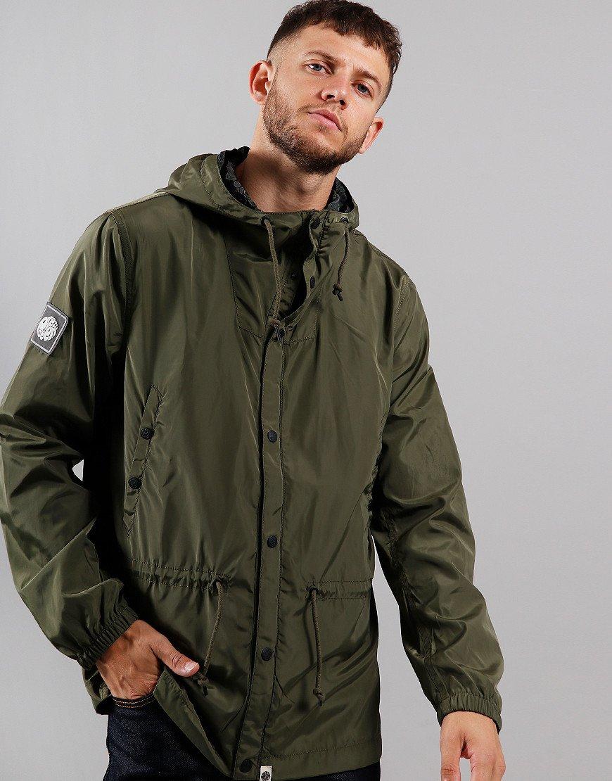 Pretty Green Nylon Hooded Jacket Green