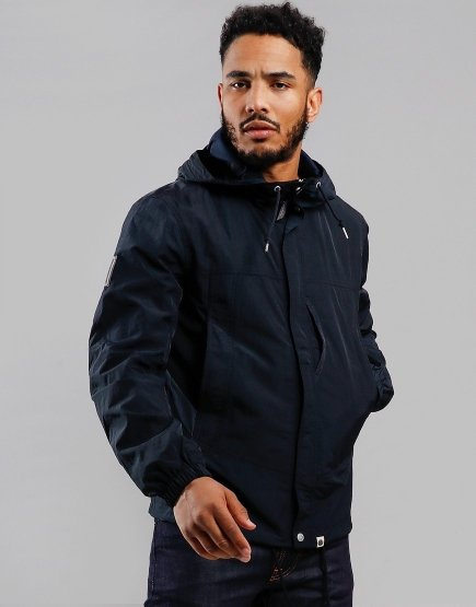 Pretty Green Nylon Jacket Navy