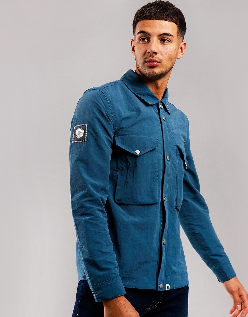 Pretty Green Nylon Overshirt Blue