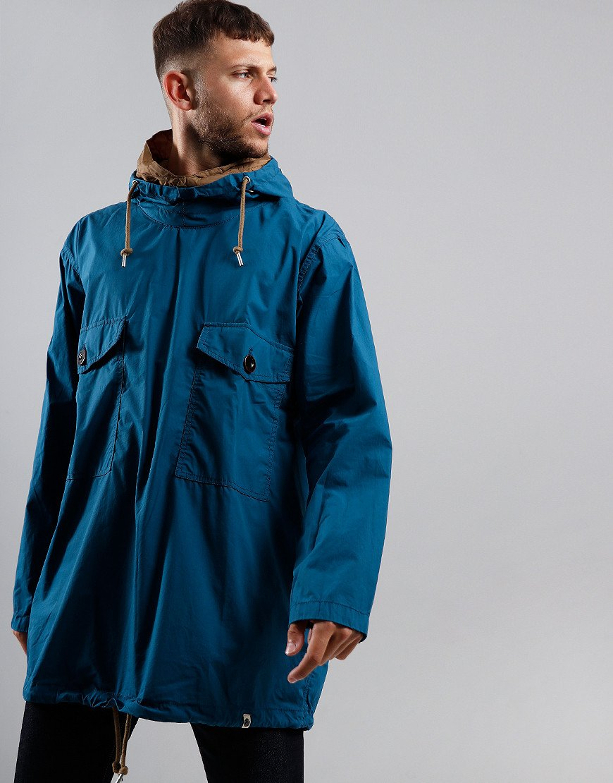 Pretty Green Pocket Overhead Oversized Jacket Blue