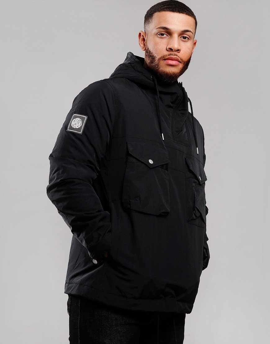 Pretty Green Quilted Smock Jacket Black