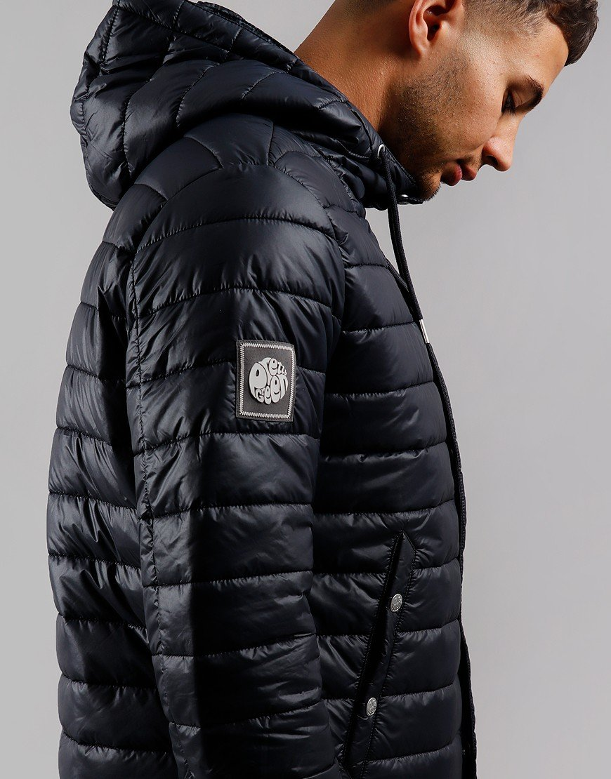 Pretty Green Quilted Down Jacket Black