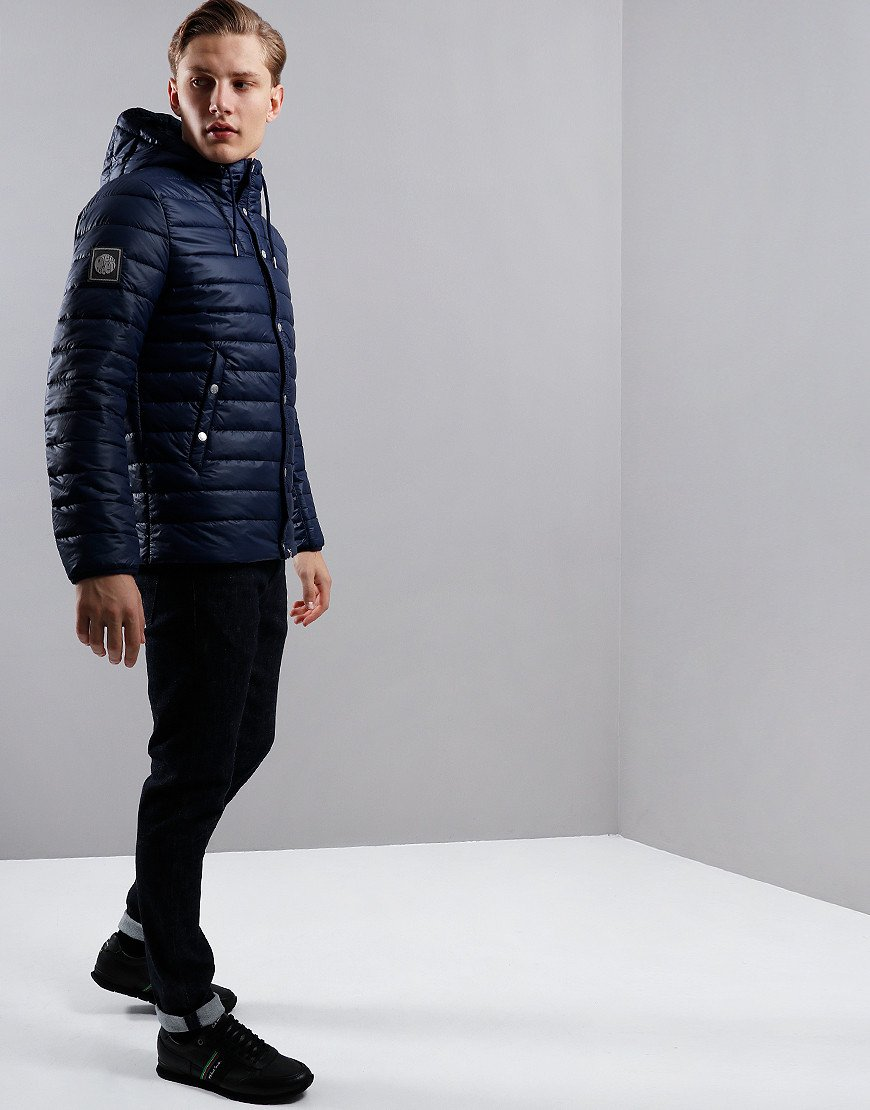 Pretty Green Quilted Jacket Navy