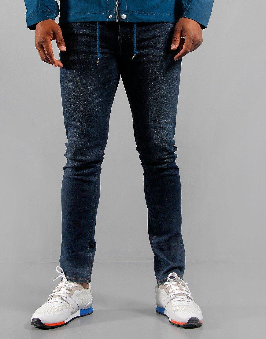 Pretty Green Castlefield Skinny Fit 6 Month Jeans Blue