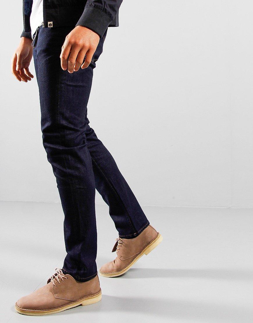 Pretty Green Erwood Slim Fit Jeans Rinse Wash