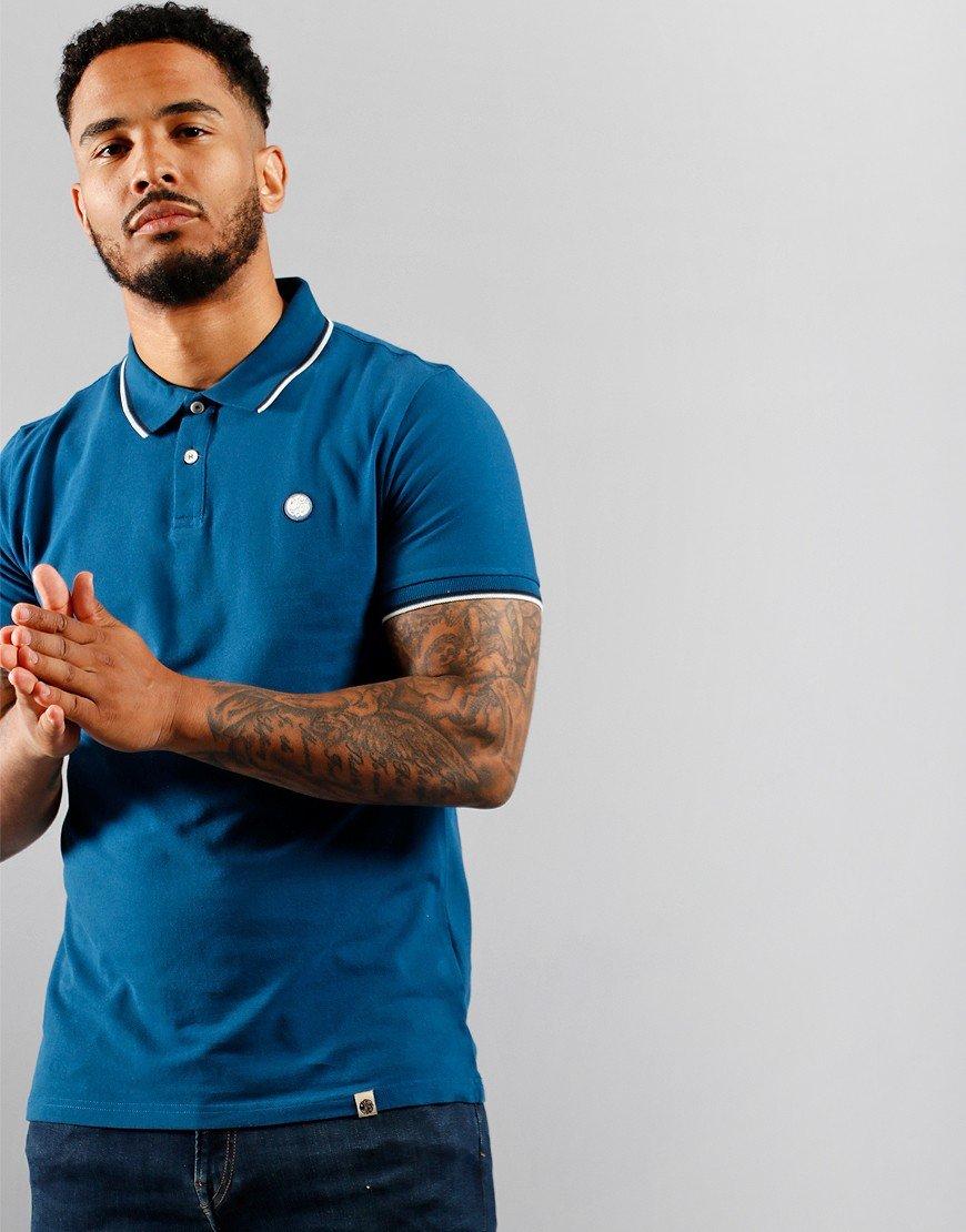 Pretty Green Short Sleeve Barton Polo Shirt Blue
