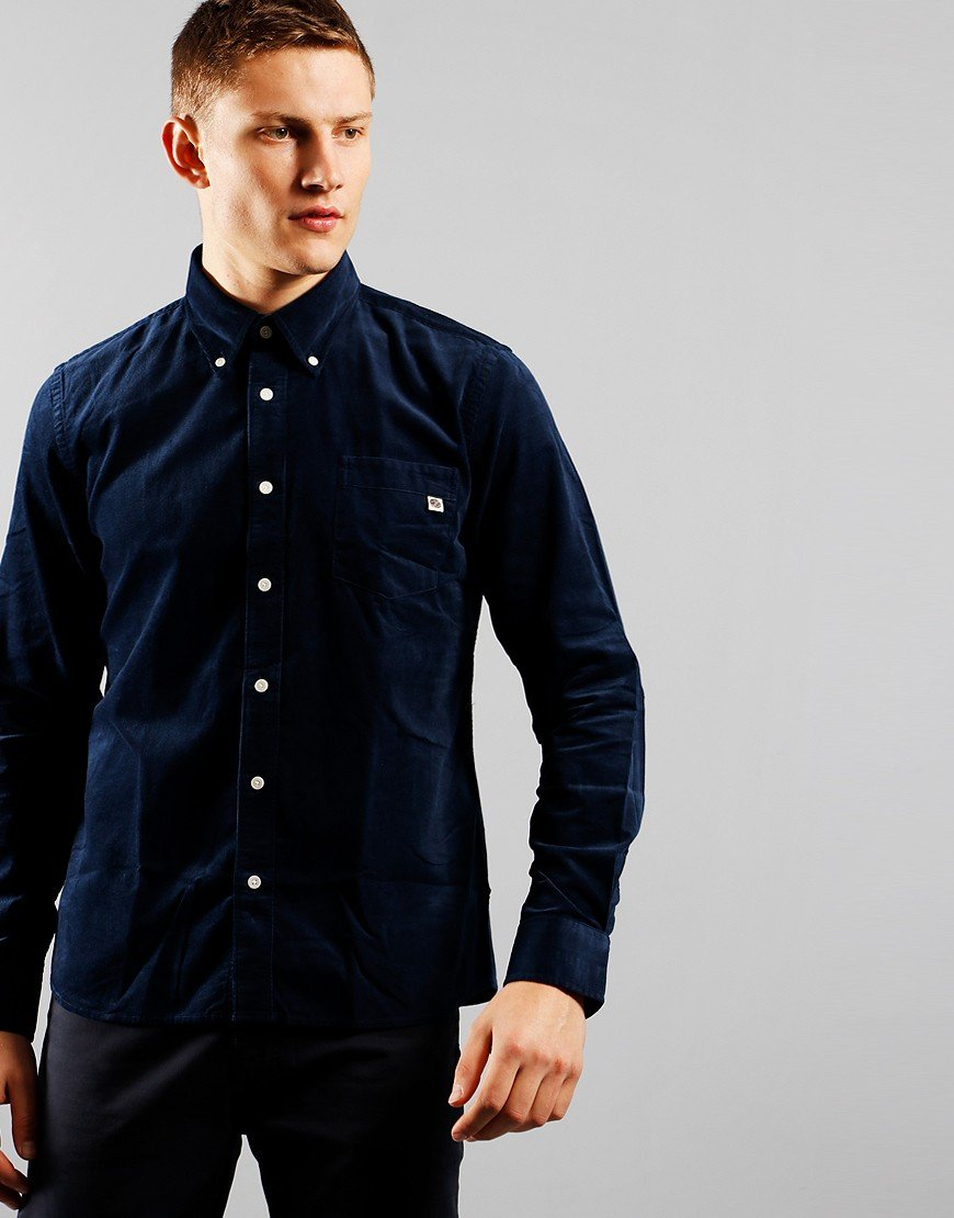 Pretty Green Standards Cord Shirt Navy