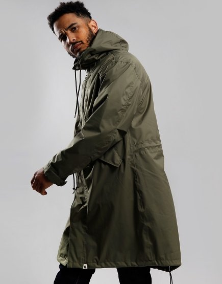 Pretty Green Technical Parka Jacket Green