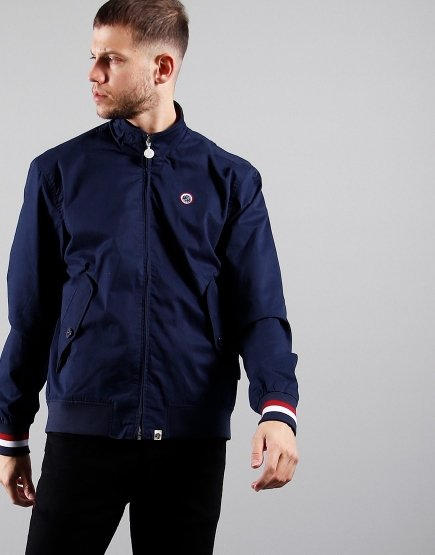 Pretty Green Tilby Harrington Jacket Navy