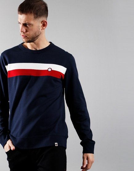 Pretty Green Tilby Sweat Navy