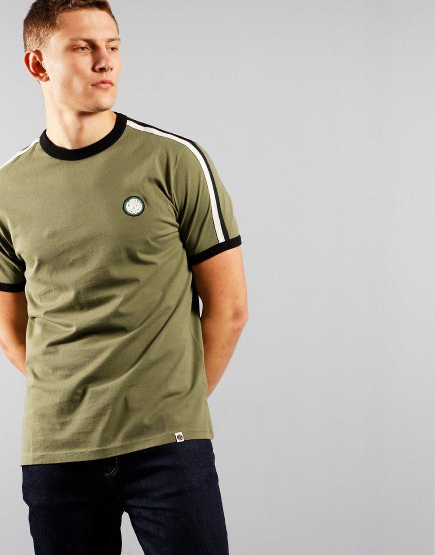 Pretty Green Tilby T-Shirt Khaki