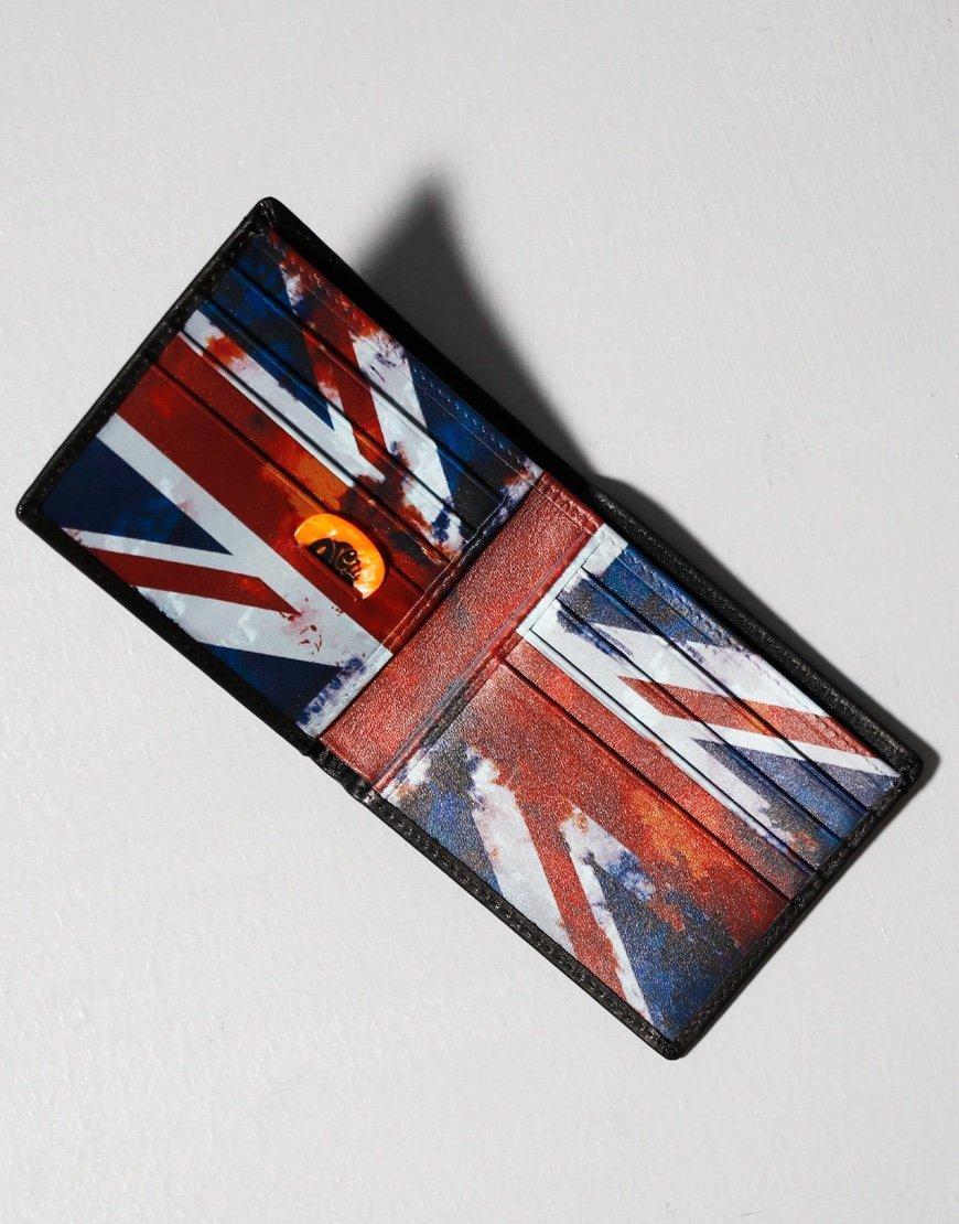 Pretty Green Union Jack Bifold Wallet Black