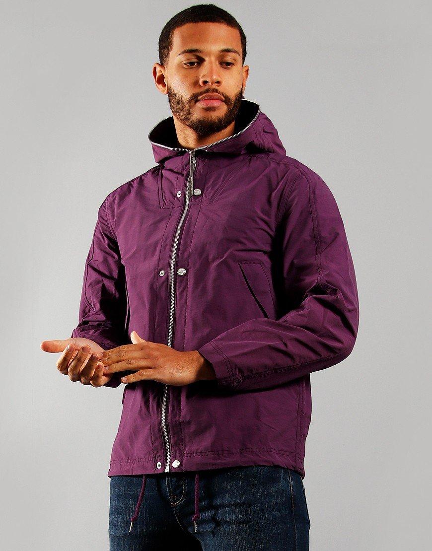 Pretty Green Zip Hood Jacket Purple