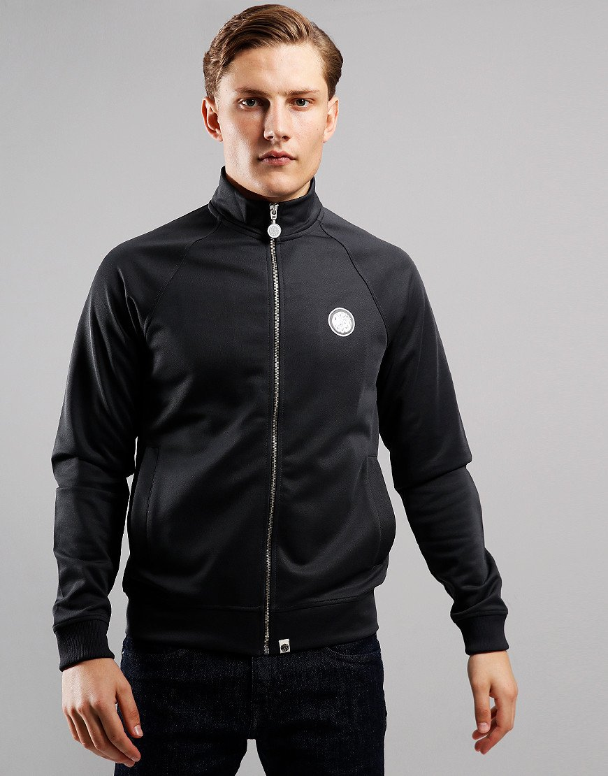 Pretty Green Zip Through Track Top Grey