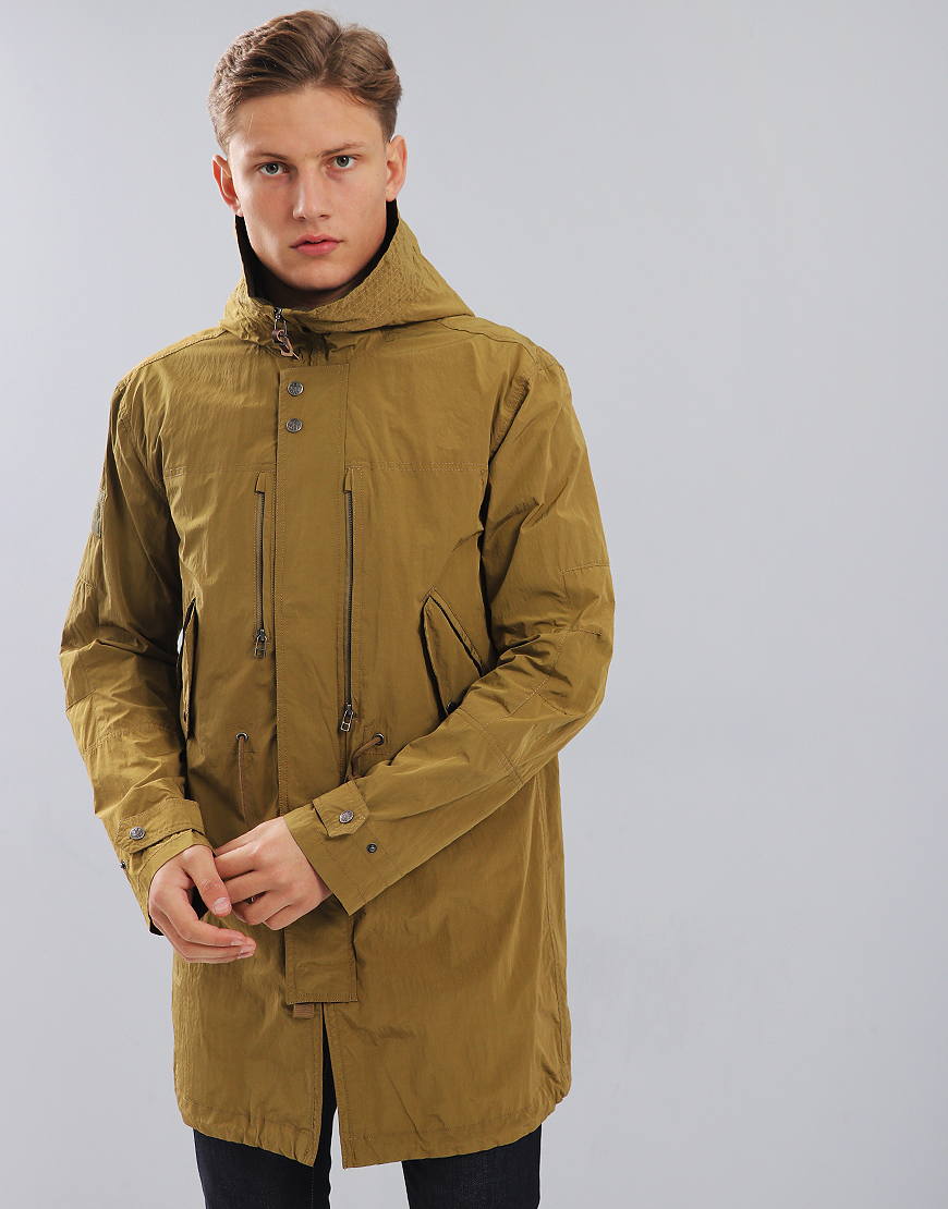Pretty Green Cambrai Fish Tail Parka Khaki