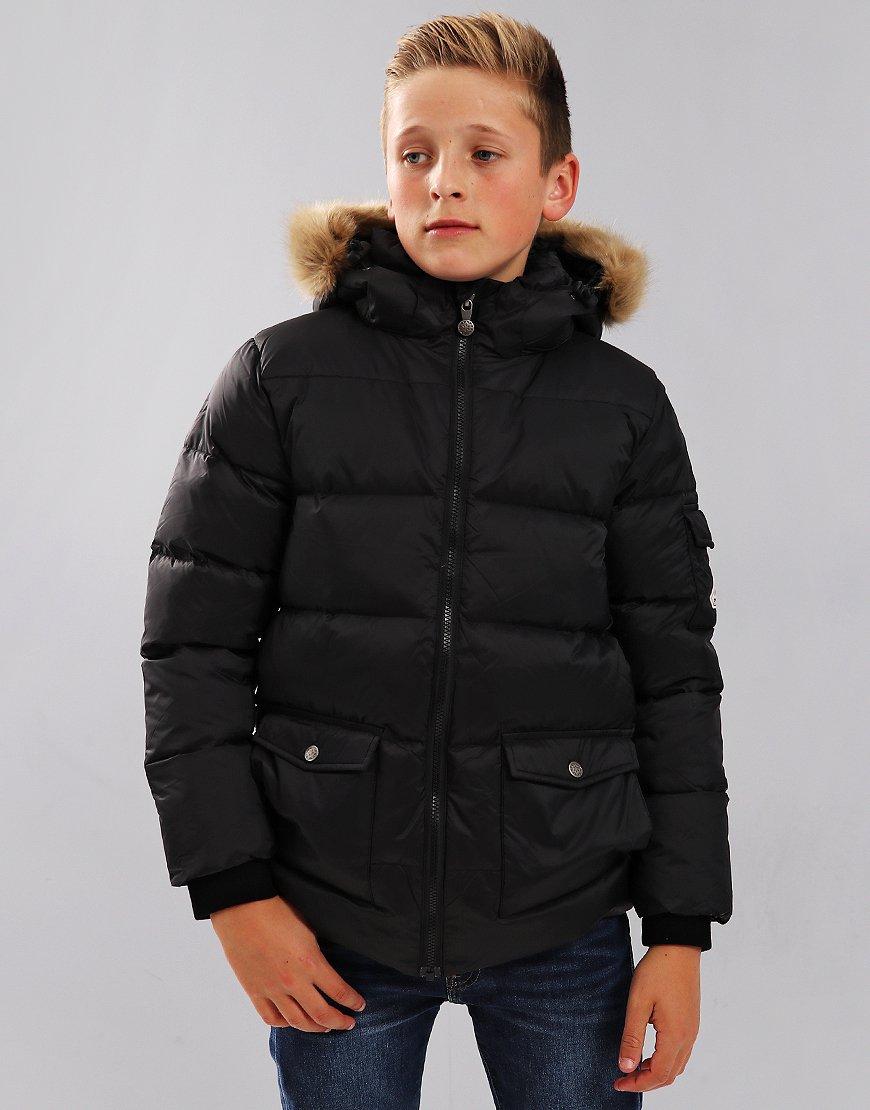 Pyrenex Kids Authentic Hooded Coat Black