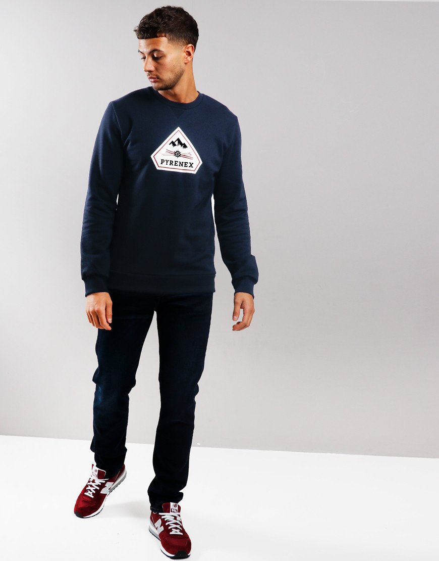 Pyrenex Charles Crew Neck Sweat Amiral