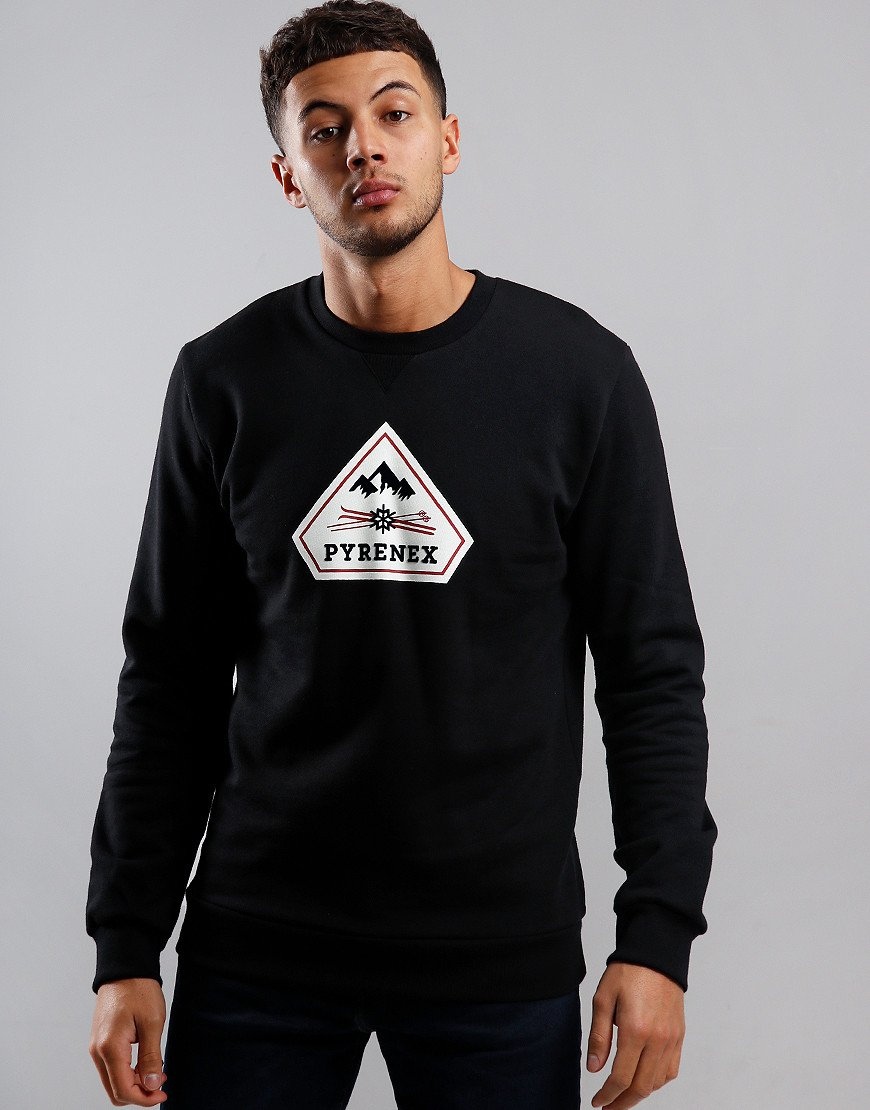Pyrenex Charles Crew Neck Sweat Black