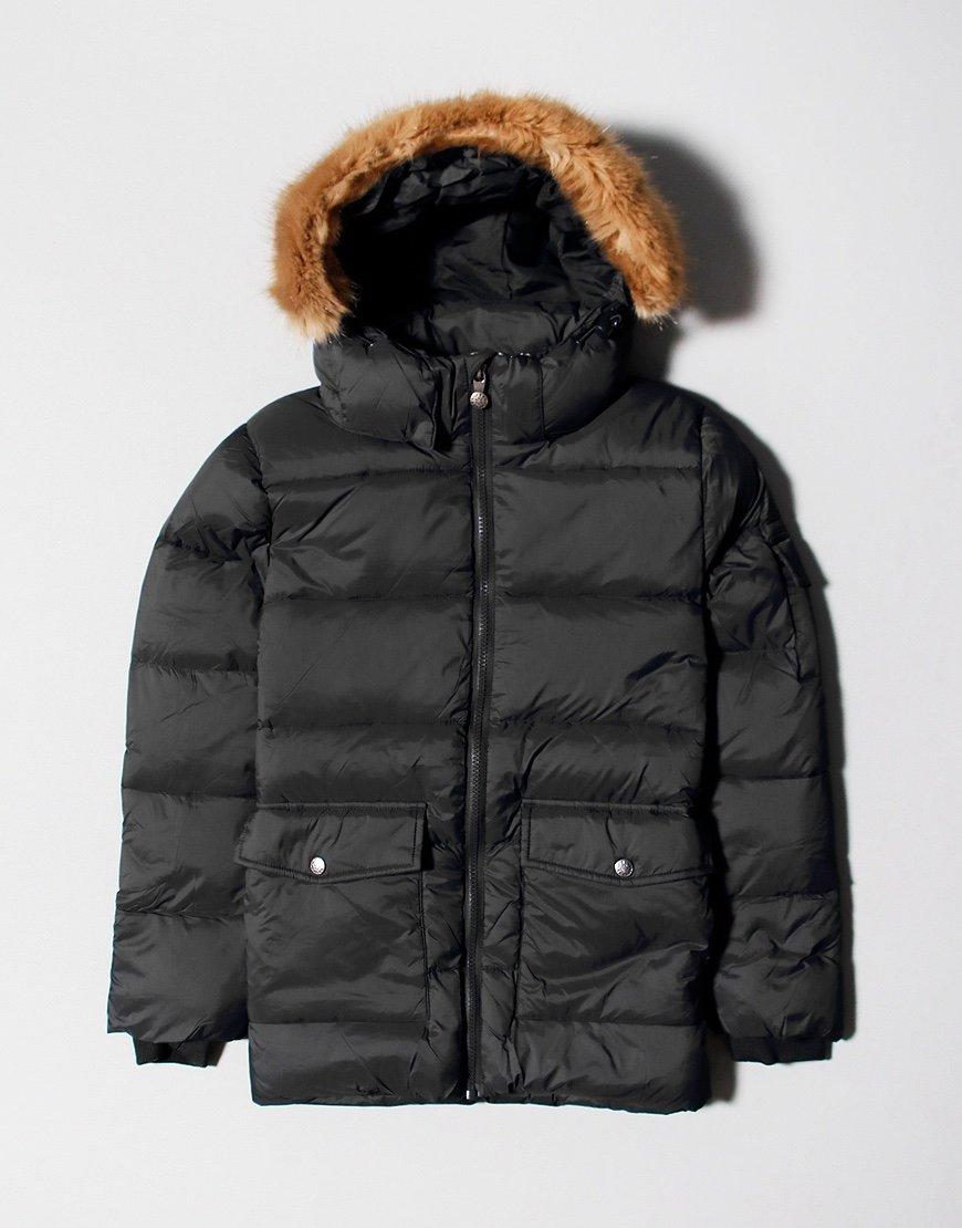 Pyrenex Kids Authentic Mat Fur Jacket Black