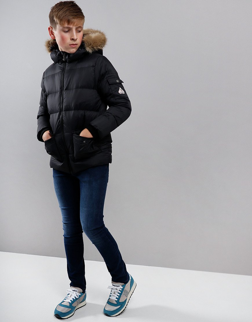 Pyrenex Kids Authentic Hooded Jacket Black