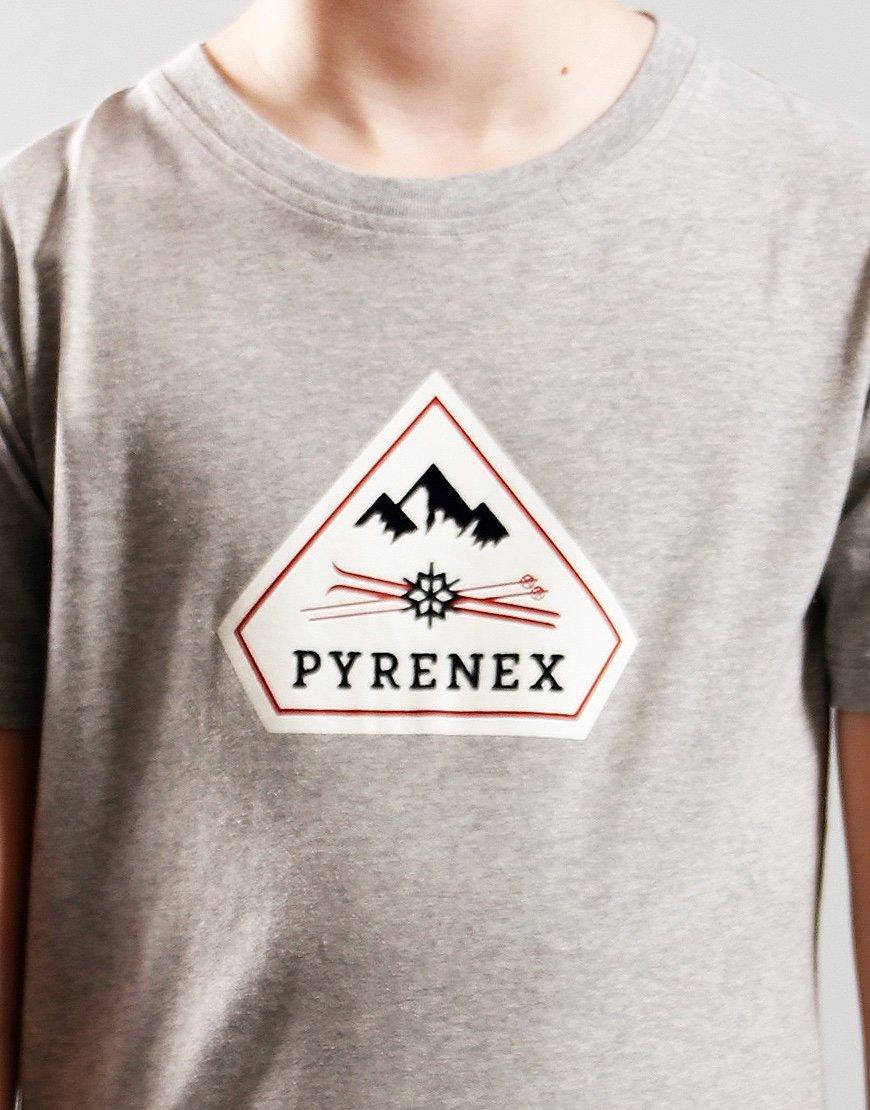 Pyrenex Kids Karel T-Shirt Silver Grey Marl