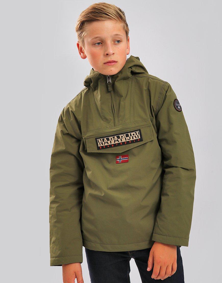 Napapijri Kids Rainforest Winter Jacket Green Musk