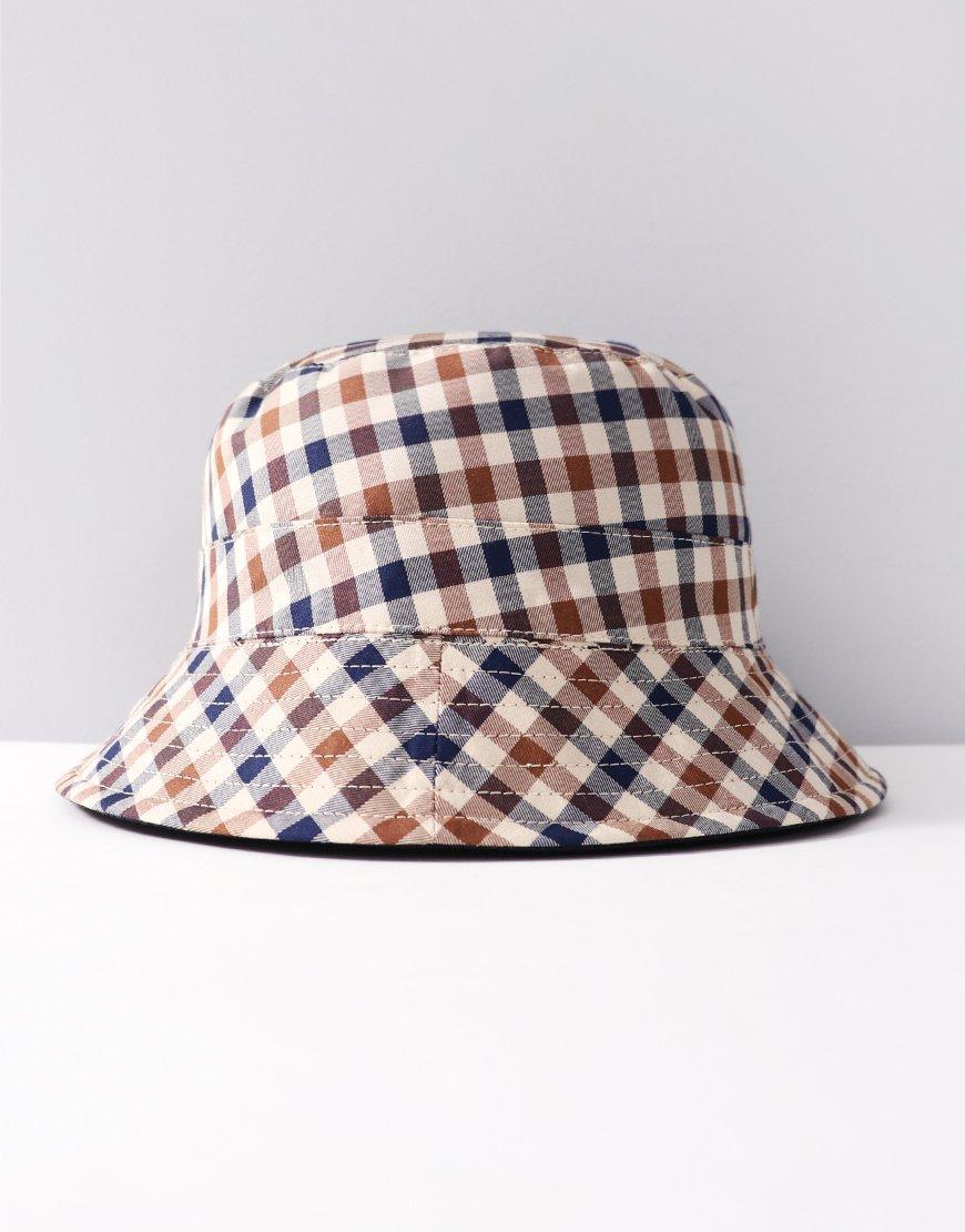 92bfa810935 Aquascutum Reversible Bucket Hat Navy - Terraces Menswear