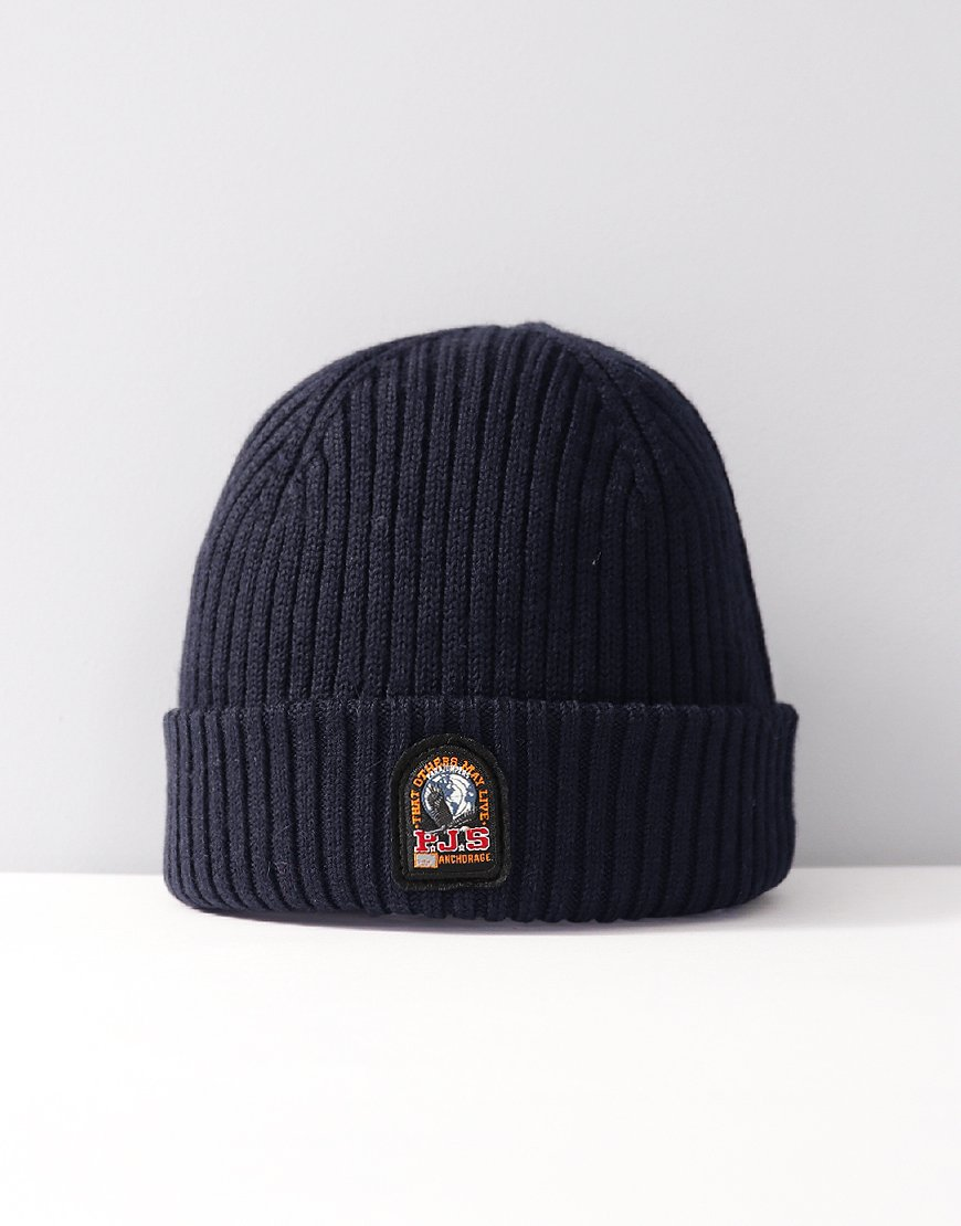 Parajumpers Rib Knitted Hat Blue Black