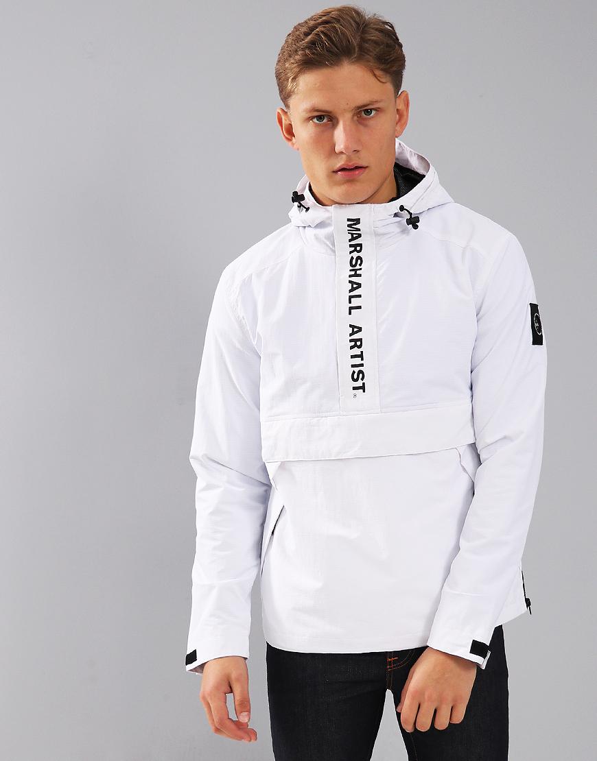 Marshall Artist Ripstop Half Zip Jacket White