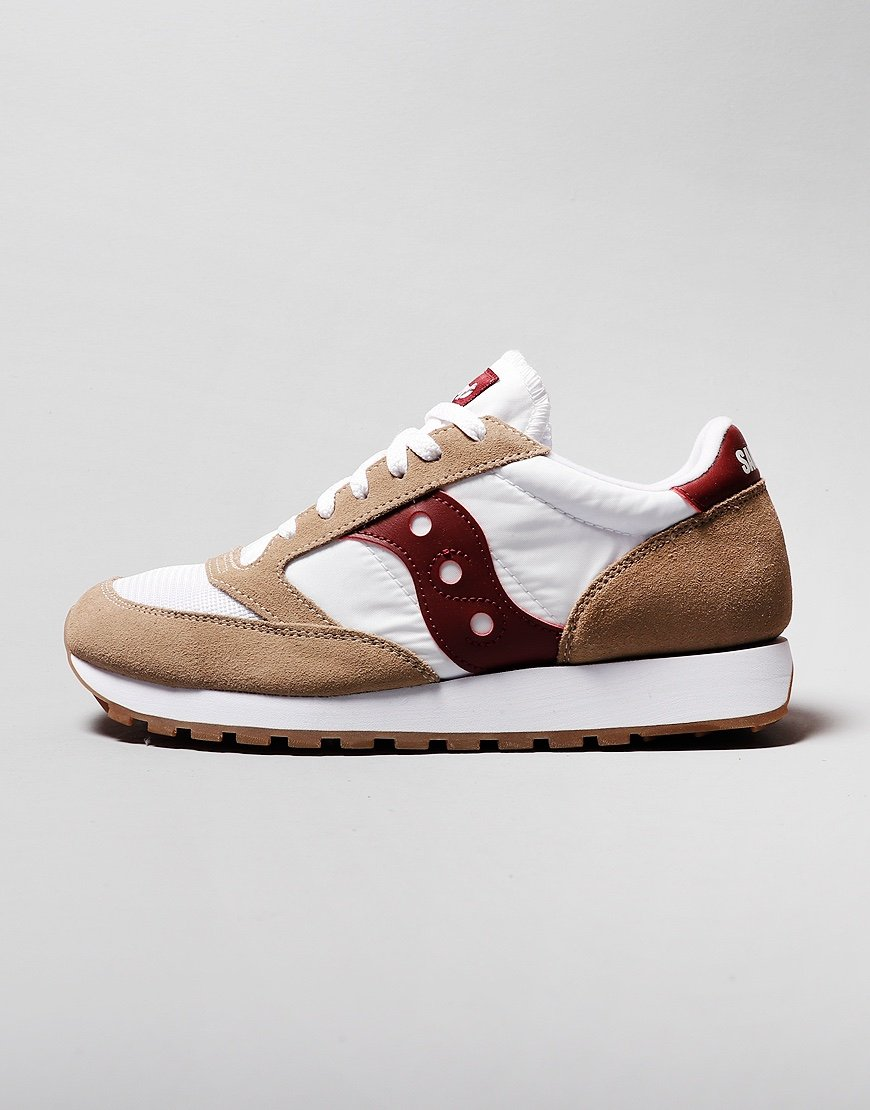 Saucony Jazz OG Sneakers Tan/White/Wine