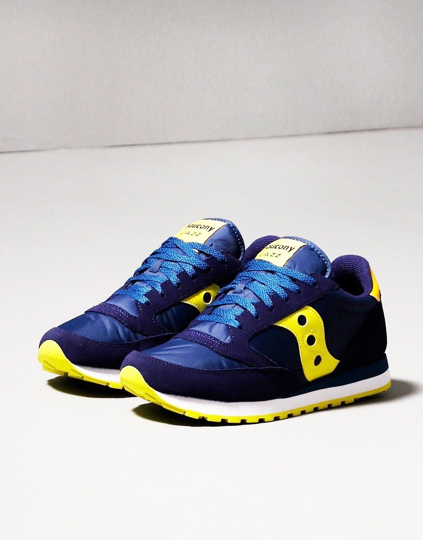 Saucony Jazz OG Trainers Navy/Yellow