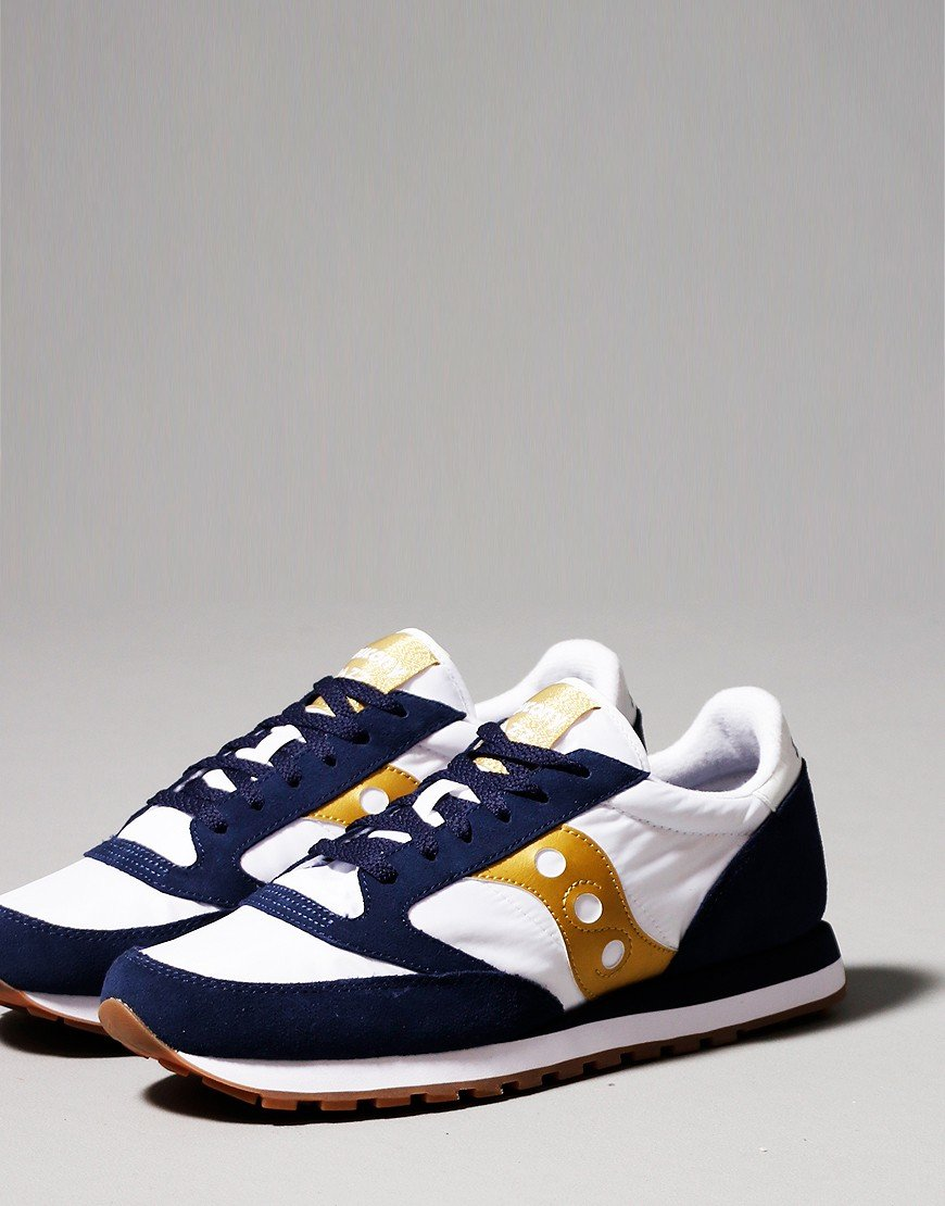 Saucony Jazz OG Trainers White/Navy/Gold