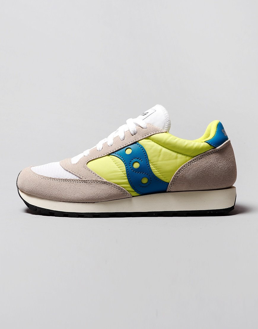 Saucony Jazz OG Sneakers White/Neon Yellow