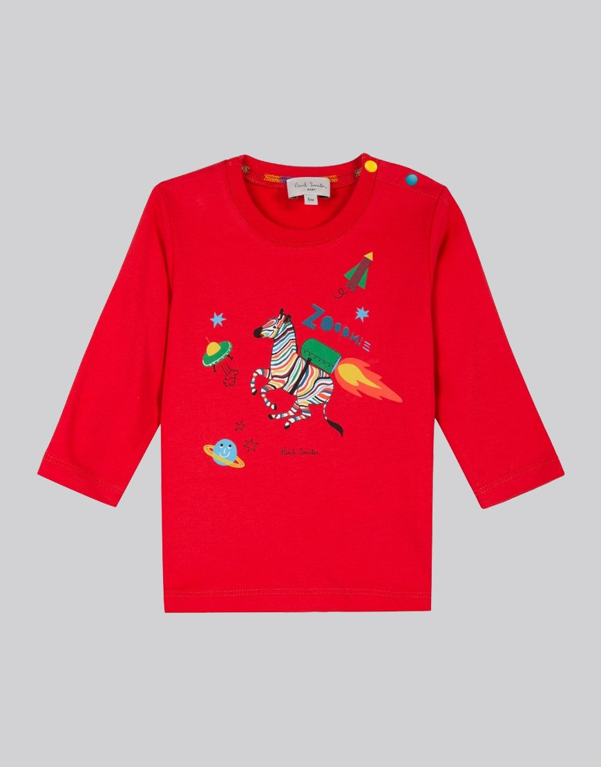 Paul Smith Junior Long Sleeve Seb T-Shirt Red