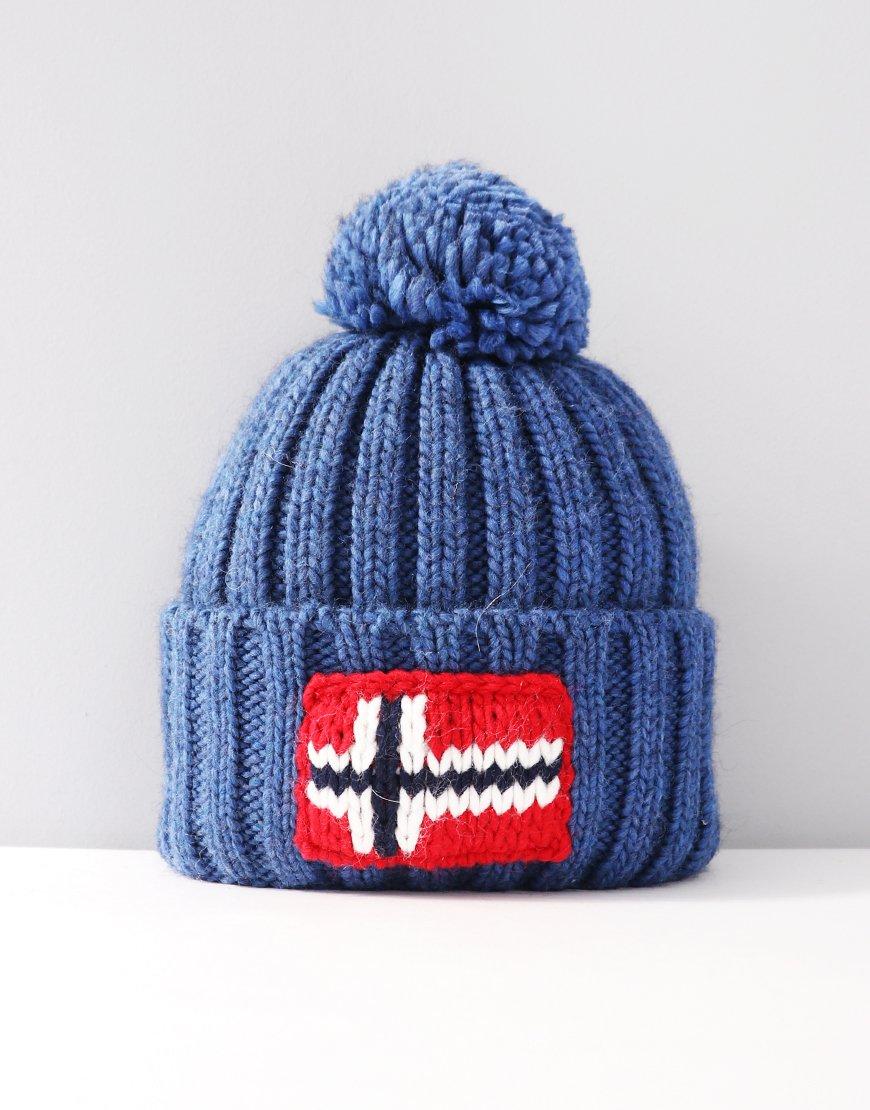 Napapijri Semiury Bobble Hat Medium Blue