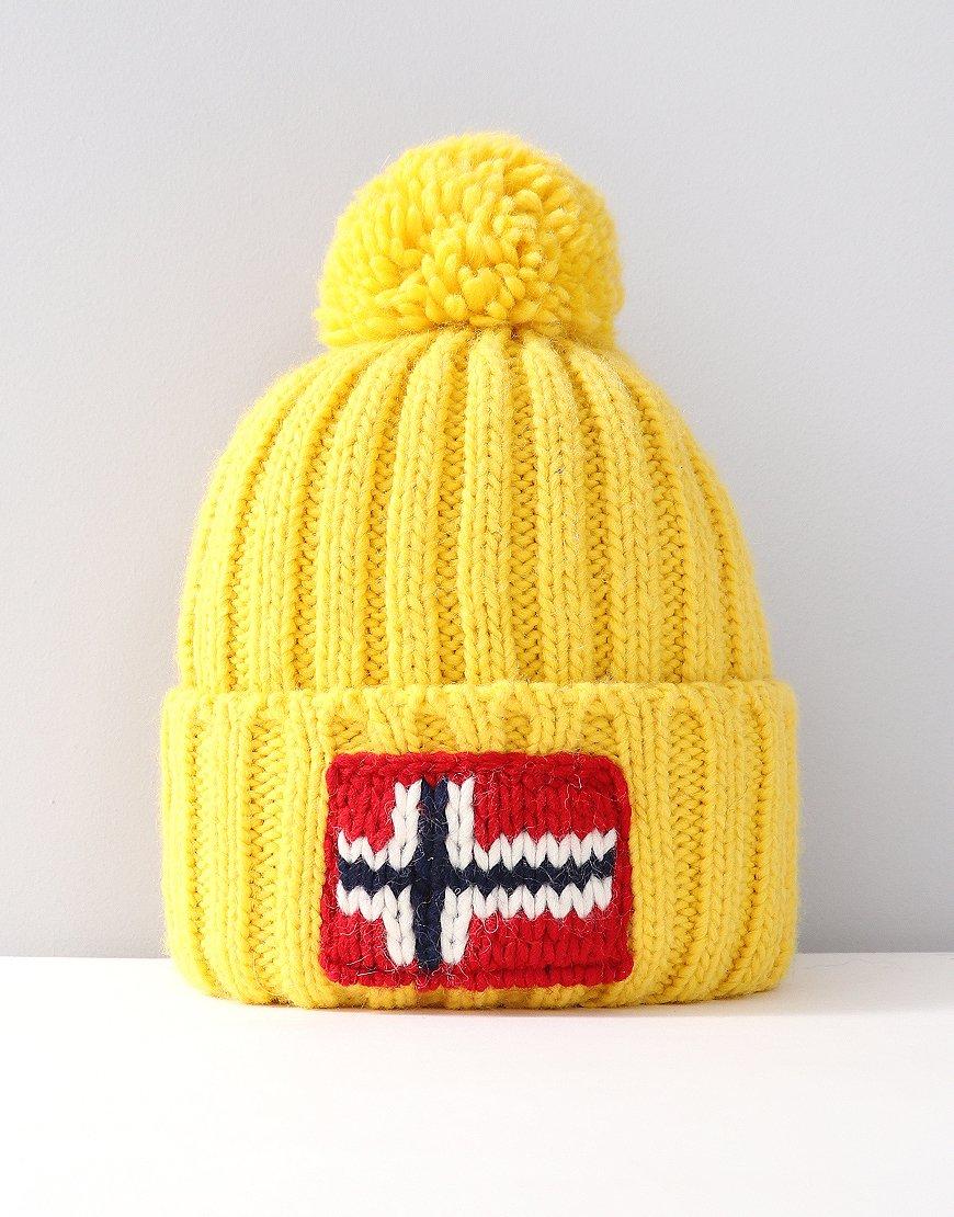 Napapijri Semiury Bobble Hat Spark Yellow