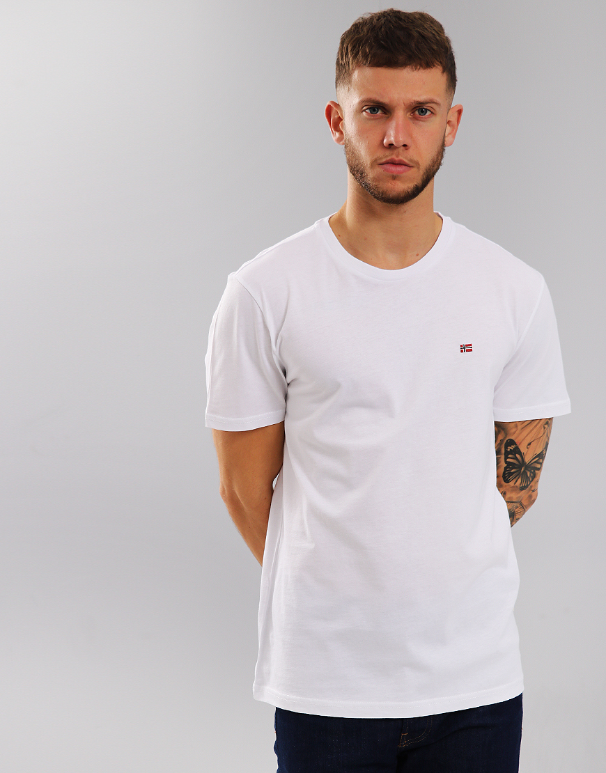 Napapijri Senoos Crew Neck T-Shirt Bright White